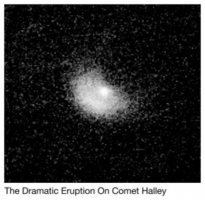 Dramatic eruption on Comet Halley surprises astronomers.